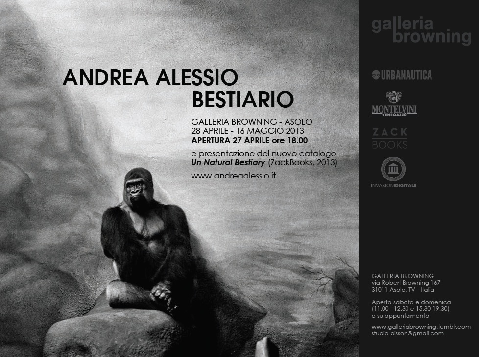 Andrea alessios blog unnatural bestiary invitationgalleria browning opening on friday aprile 27th at 7pm galleria browning asolo tv italy stopboris Image collections