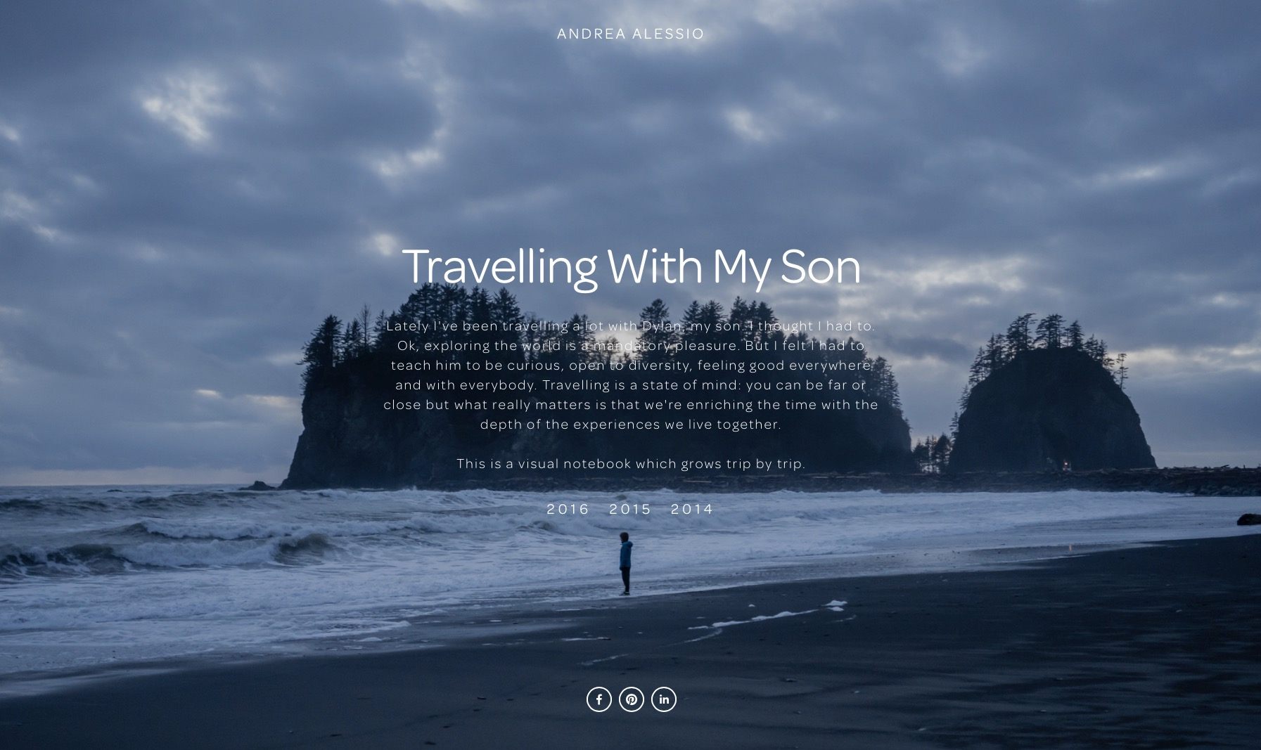 Travelling with my son - Andrea Alessio
